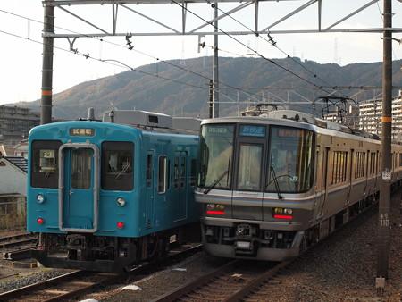 105系本線試運転 東海道本線山崎駅03