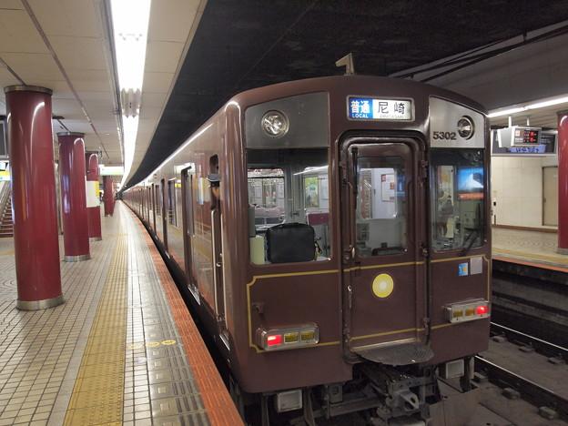 茶色い近鉄5800系普通 近鉄奈良線上本町駅