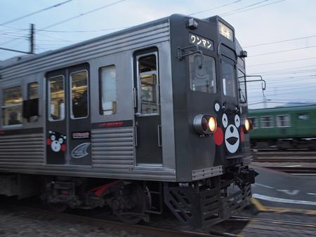 熊本電鉄6000系くまモン電車 菊池線北熊本駅03