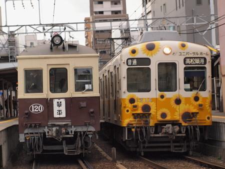 琴電レトロ車琴平線片原町駅02
