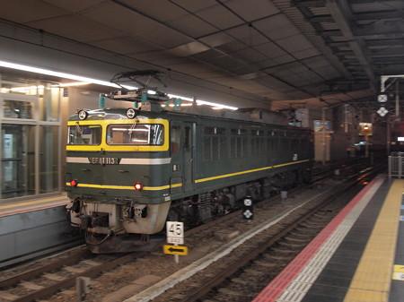 EF81 トワ釜単機回送 東海道本線大阪駅03