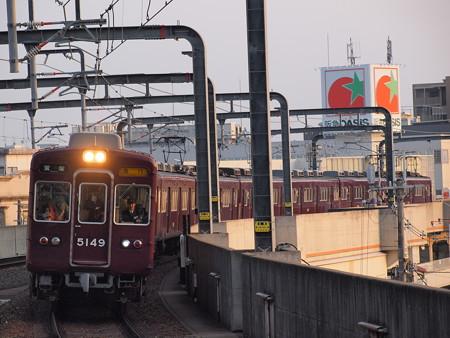 阪急5100系急行 阪急宝塚線豊中駅