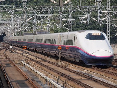 E2系はやて 東北新幹線白石蔵王駅