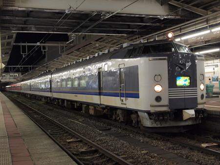 583系急行きたぐに 信越本線新潟駅