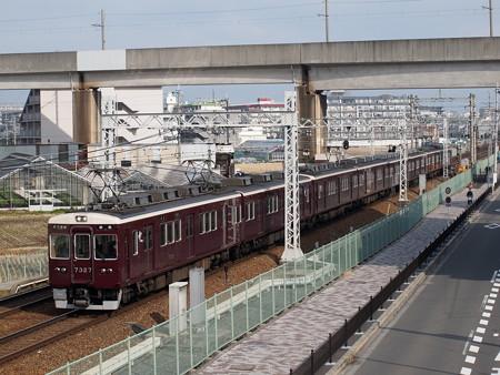 阪急7300系普通 阪急京都線茨木市~南茨木