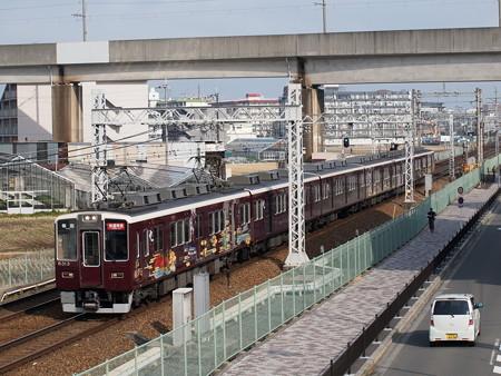 阪急8300系快速特急 阪急京都線茨木市~南茨木