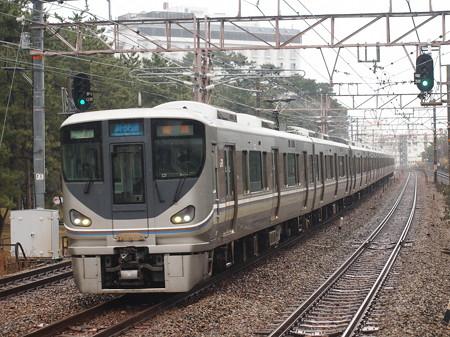 225系新快速 山陽本線舞子駅