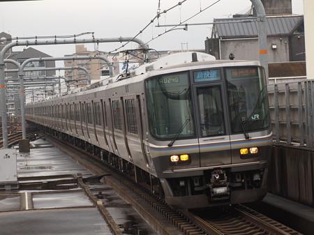 223系新快速   山陽本線加古川駅01