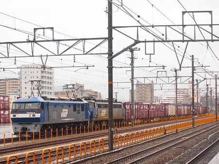 EF210+EF200貨物 山陽本線鷹取駅