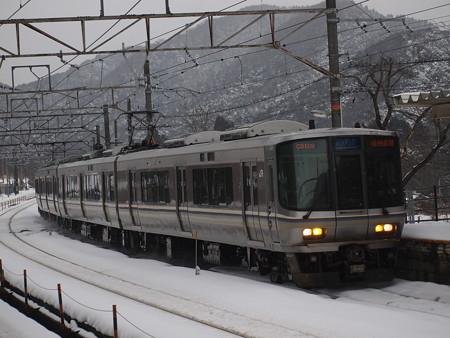 223系新快速 北陸本線新疋田駅