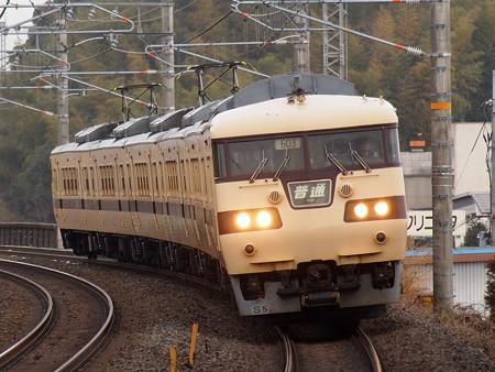 117系普通 湖西線小野駅