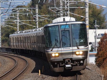 223系新快速 湖西線小野駅
