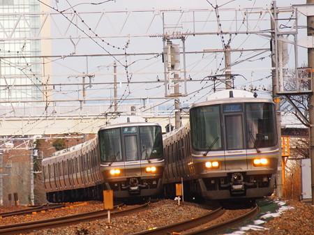 223系新快速 東海道本線長岡京~山崎02