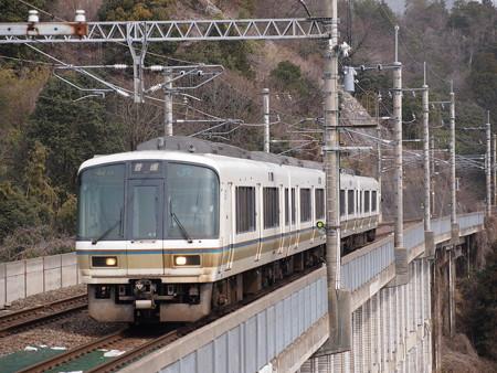 221系普通 湖西線北小松駅