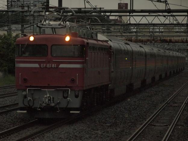 写真: EF81カシオペア回送 東北本線西川口駅03