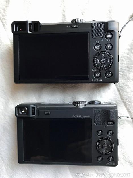 Photos: TZ85(New)←TZ60(3years)~背面 back~違い~ファインダー・ボタンダイヤルの感触・モニター見え方・タッチパネル・素材・厚さ