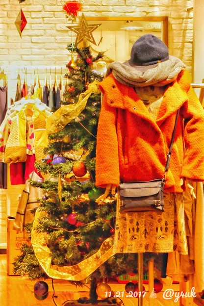 Xmas Tree in heartwarming fashion shop ~温かいお店