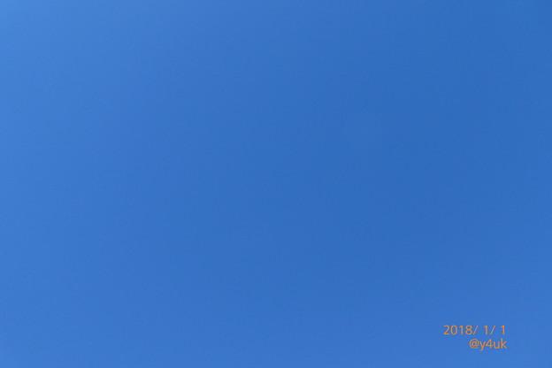 写真: 10:48 2018Start Blue Sky~本年もよろしくお願いします