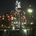写真: 工場夜景