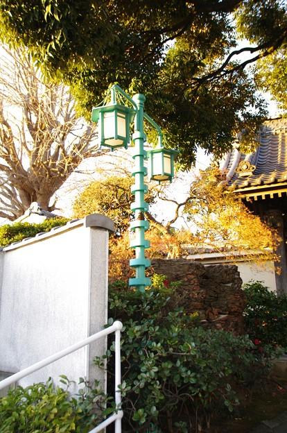 本覺寺のペンキ