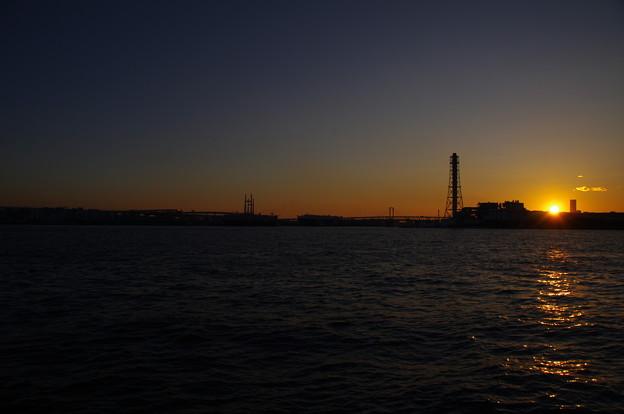 横浜の夕日