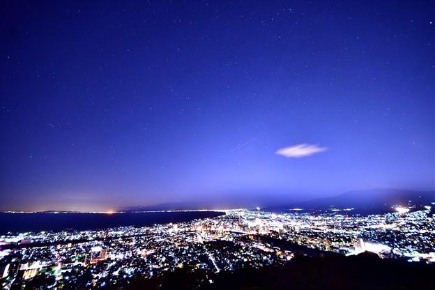 香貫山からの夜景と星空1