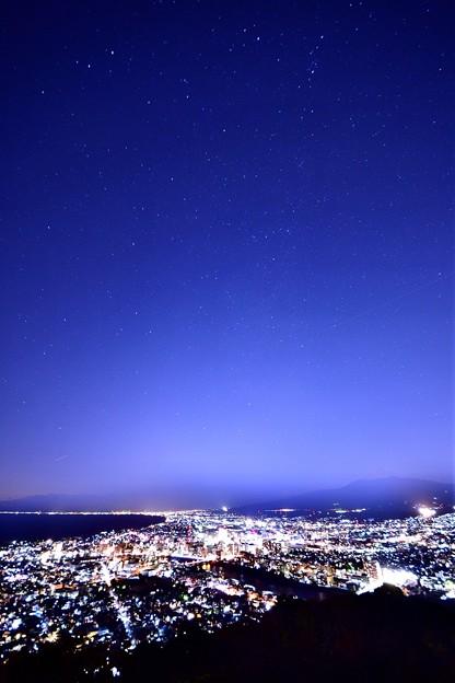 香貫山からの夜景と星空2
