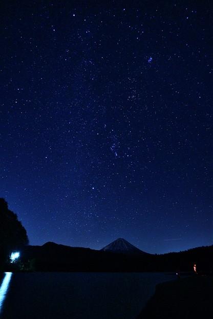 西湖からの星空