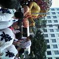 写真: 東流のかき山飾りが外されて運ばれていきます。また来年! #hakata #yama...