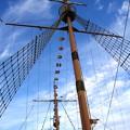 写真: 青空に映える:サンタマリア号