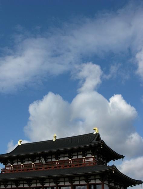 写真: 羽ばたく鳳凰:平城宮蹟晩秋12