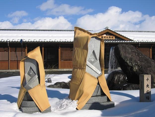 Photos: 雪人形:越前大野06