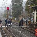 写真: 雪の駅~北鎌倉