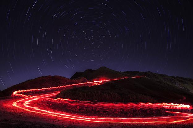 写真: 合歡山星軌