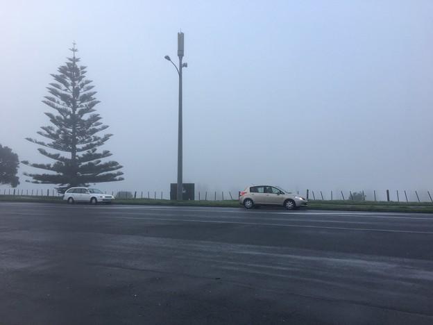 霧がかかった日