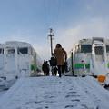 雪の交換駅