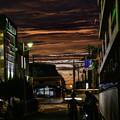 写真: 昨日の夕焼け