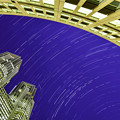 都庁の夜空