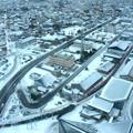 冬の秋田市