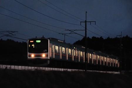 夜明け前のメルヘン顔205系東北本線普通列車