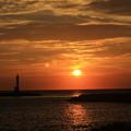 写真: 沈みゆく陽に思いを寄せて
