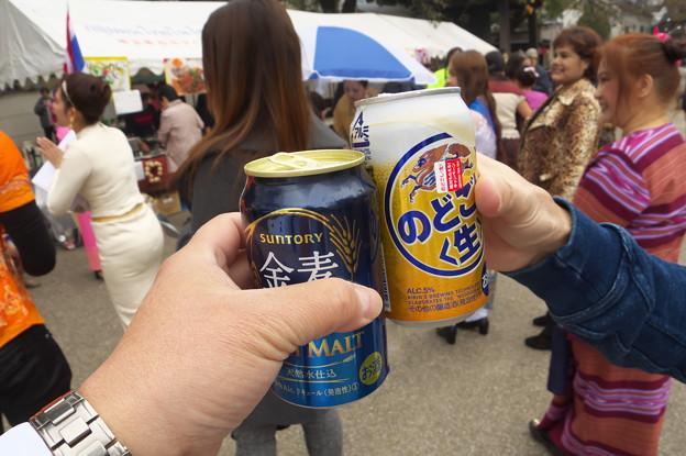 パレード前の乾杯