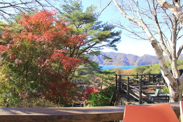 紅葉と本栖湖