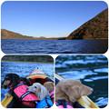 写真: 本栖湖でカヤック