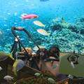 Photos: 水中の宝船でパチリ