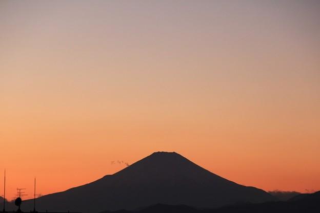 2018年1月13日午後5時18分の富士山