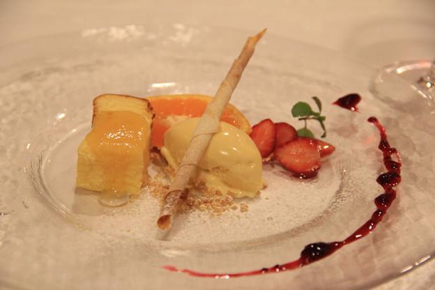 クリームチーズスフレ メープル風味グラスバニラ