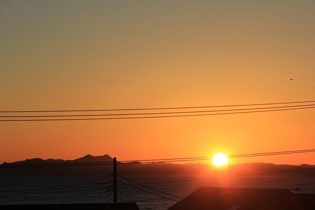 お部屋から見た1月4日の日の出