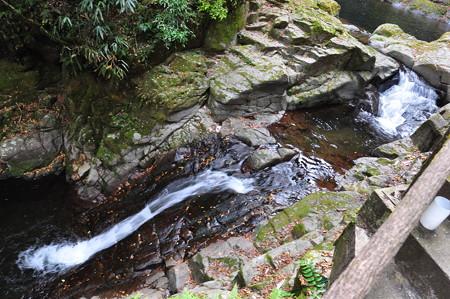 上から見た霊蛇滝