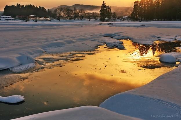 みちのく冬の夕暮3